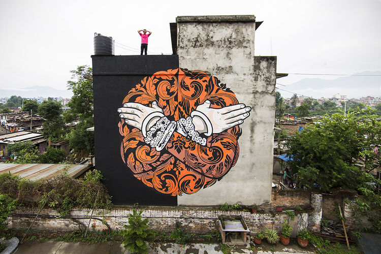 Œuvre Par Chifumi à Katmandou