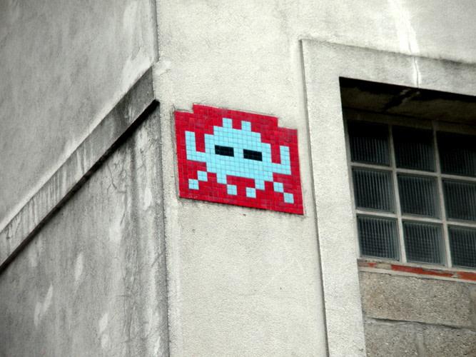 Œuvre Par Space Invaders à Paris (Mosaïque, Street Art)
