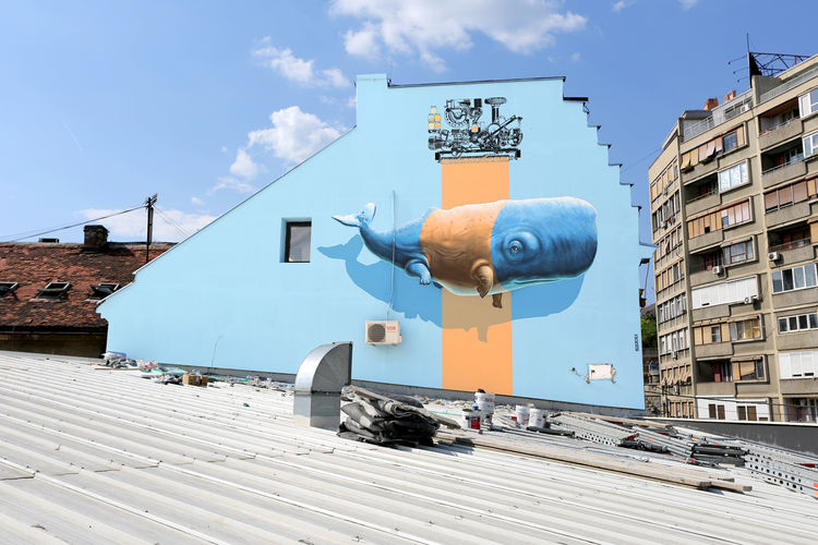 Œuvre Par NEVERCREW à Belgrade, Stari grad (Nature, Façades)