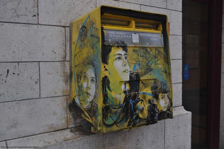Œuvre Par C215 à Bonneuil-sur-Marne