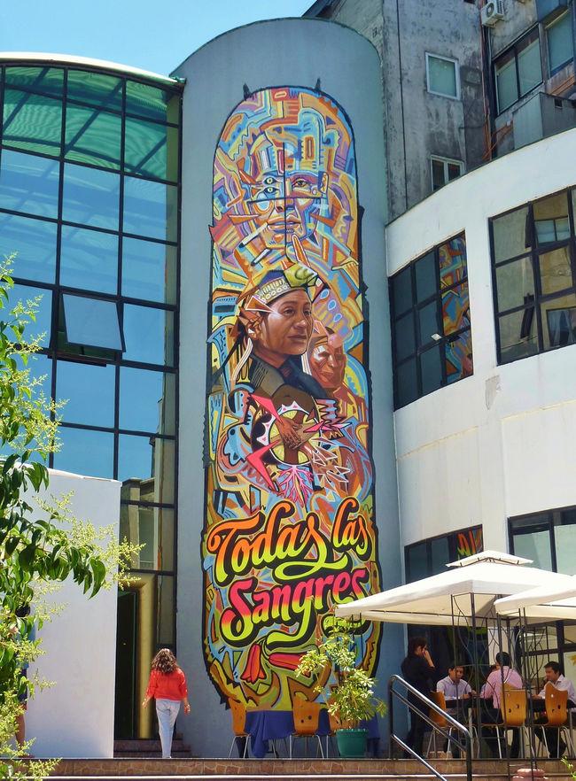 Artwork By El Decertor, Elliot Tupac in Santiago