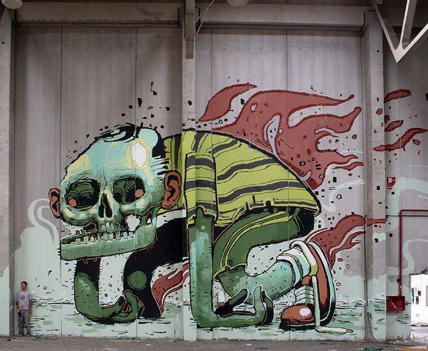 Artwork By Aryz in El Pont de Bar