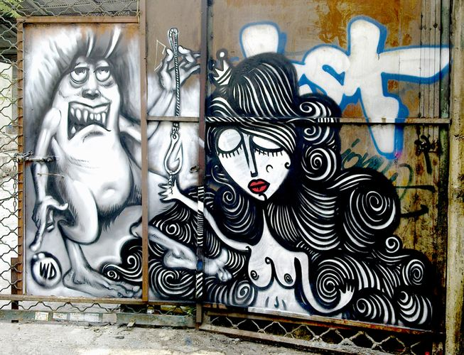 Œuvre Par Wild Drawings WD, Sonkè à Athènes