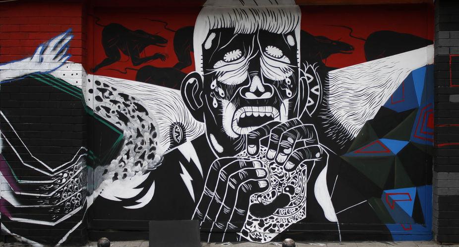 Œuvre Par ares à Istanbul (Personnages, Mur, Street Art)