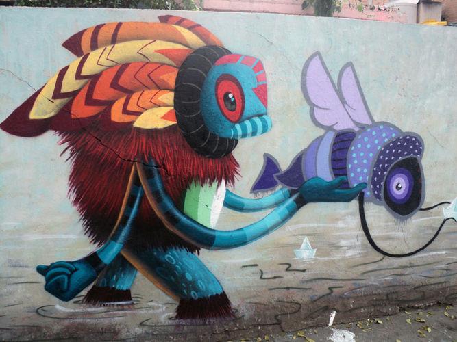 Œuvre Par El Curiot à Mexico (Nature)