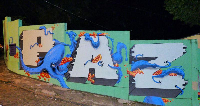 Œuvre Par Maspaz, Mike Makatron à Rio de Janeiro