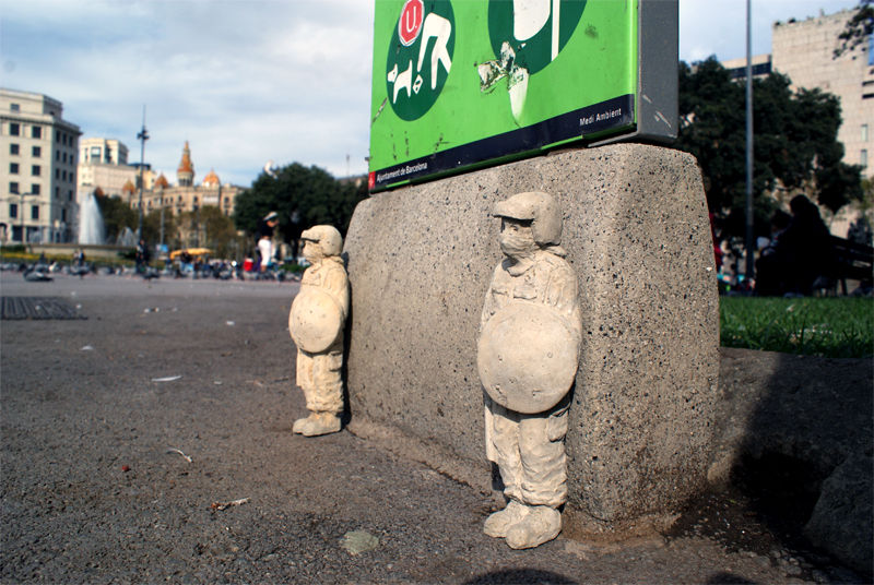 Artwork By Isaac Cordal in Barcelona