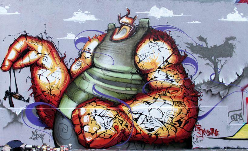 Œuvre Par ASTRO, Rensone à Paris (Personnages, Aérosol, Mur, Street Art)