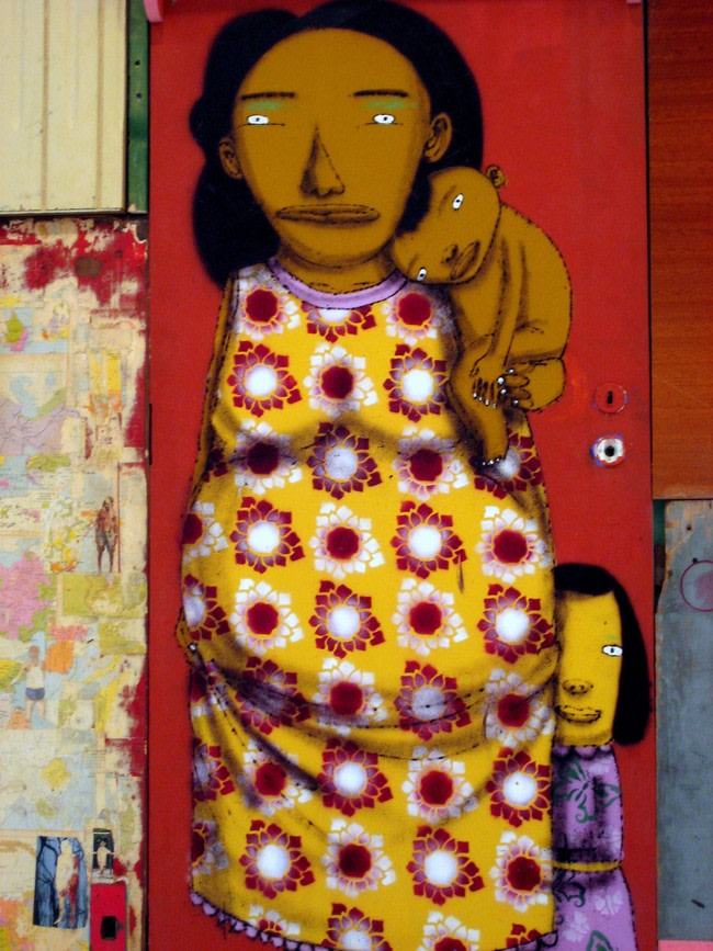 Artwork By Os Gemeos in New York City (Characters, Spray, Wall, Street Art)