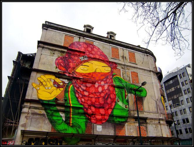 Artwork By Os Gemeos in Lisbon