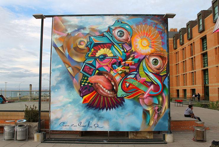 Œuvre Par Painters à Santiago (Façades)