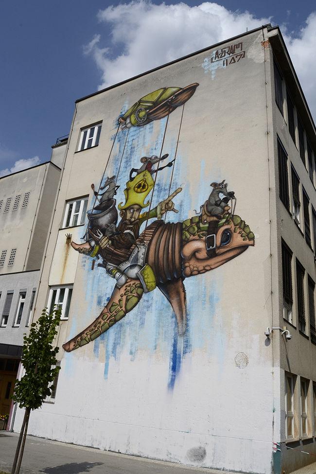 Œuvre Par Azram à Ljubljana, province de Ljubljana