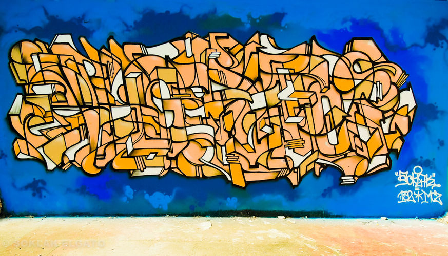 Œuvre Par Soklak à Bondy (Abstrait)