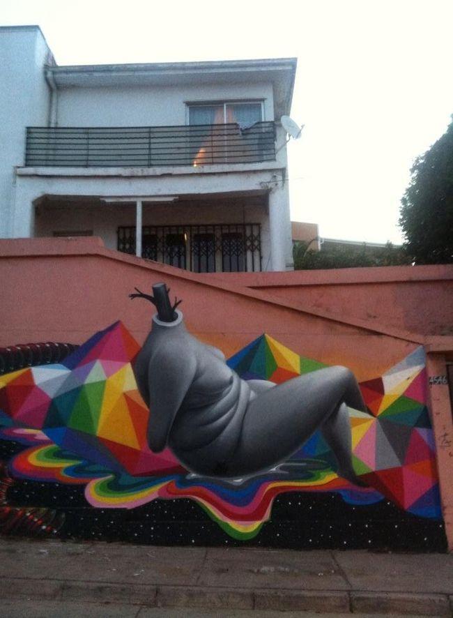 Œuvre Par Okuda à Valparaíso