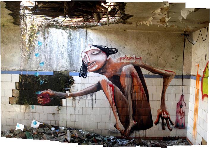 Œuvre Par Magrela à São Paulo (Personnages)