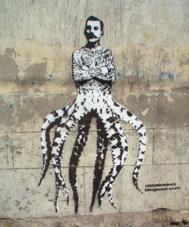 Œuvre Par Cabaio Stencil à Buenos Aires (Collage, Portrait)