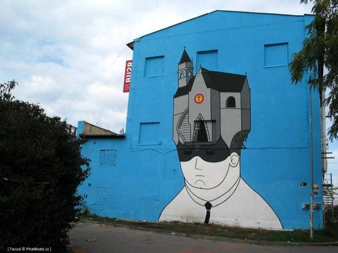 Artwork By honet in Prague (Humor)