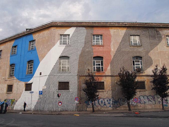 Œuvre Par Momo à Rome (Abstrait, Façades)