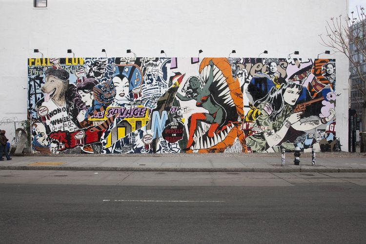 Œuvre Par Patrick Miller (Faile) à New York (Collage, Mur, Street Art)