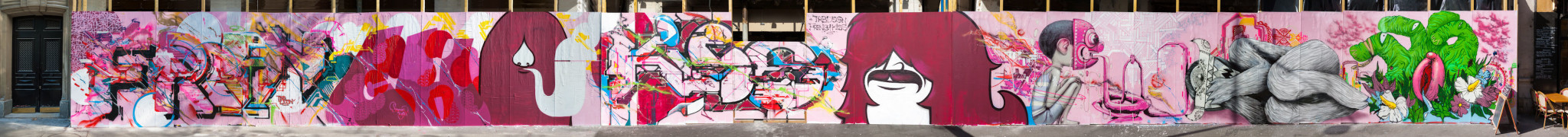 Œuvre Par Monsieur Hobz, Julien Seth Mailland, Lek, DEM189 à Paris