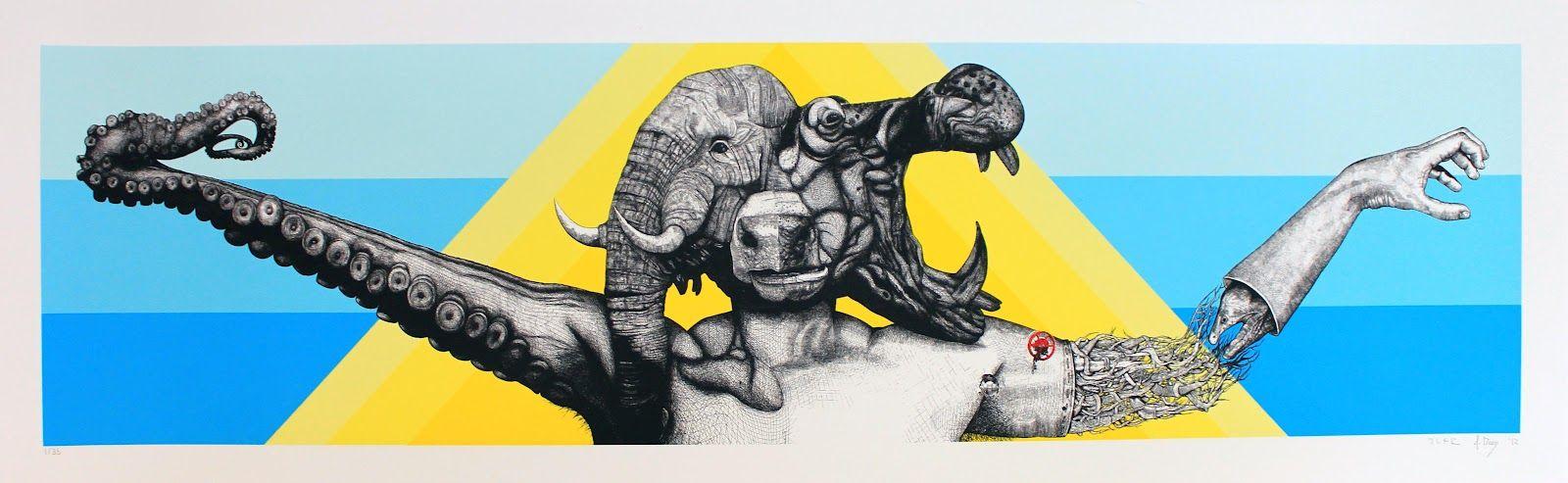 Œuvre Par Juan Fernandez, Alexis Diaz à Miami
