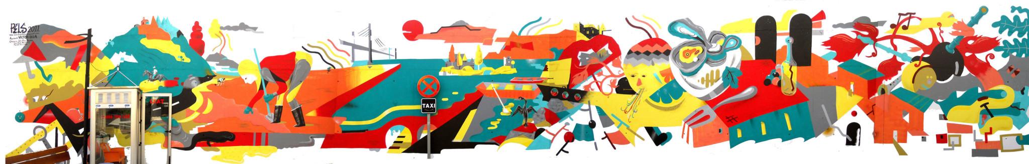 Œuvre Par Pelucas à A Estrada (Coloré, Illustration)