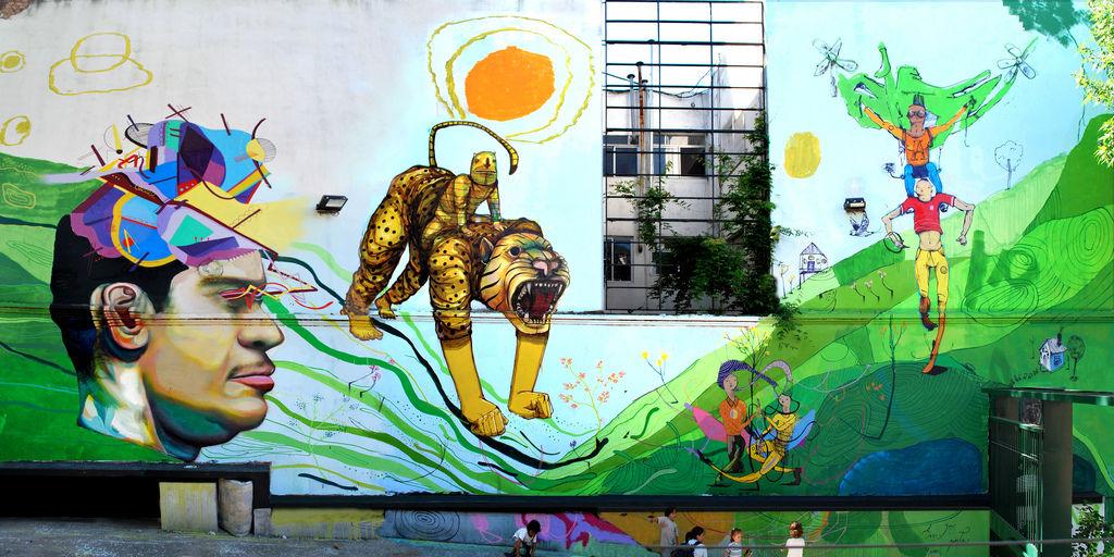 Œuvre Par Aire, Jaz, Ever à Buenos Aires
