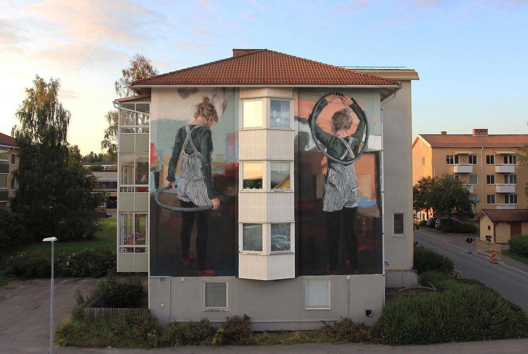 Artwork By Helen Bur in Ljusdal (Characters, Murals)