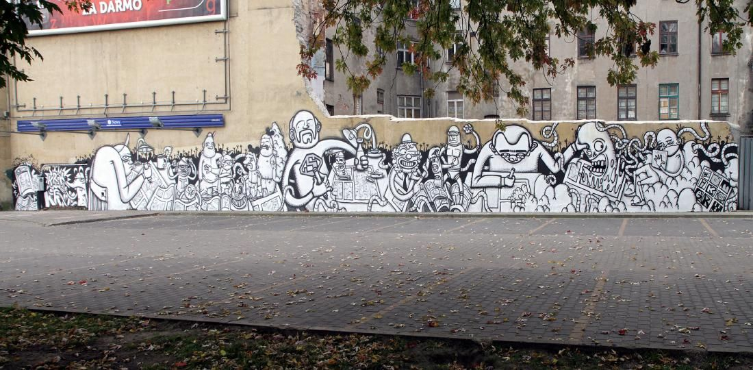 Œuvre Par Krik Kong à Łódź