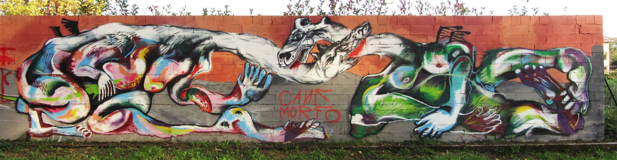 Œuvre Par Azz the One à Milan (Façades)