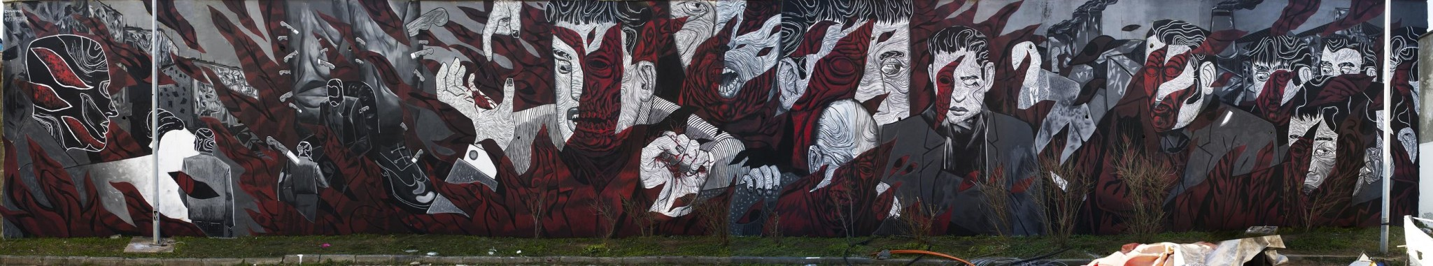 Artwork By ares in Istanbul (Characters, Long wall, Street Art)