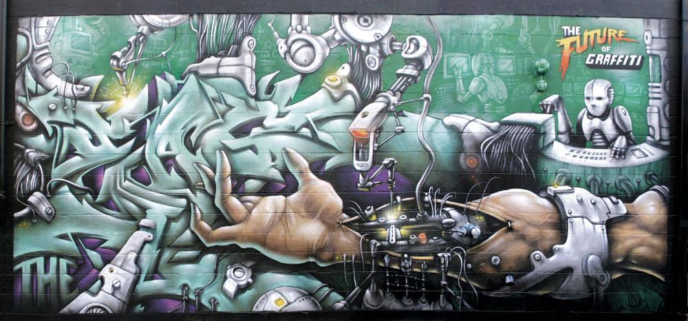 Œuvre Par Eaz à New York (Futuriste, Graffiti)