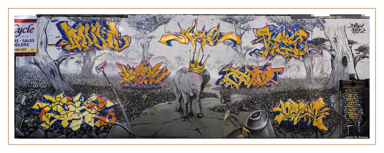 Artwork By Cope2, Shadow, Logek in New York City