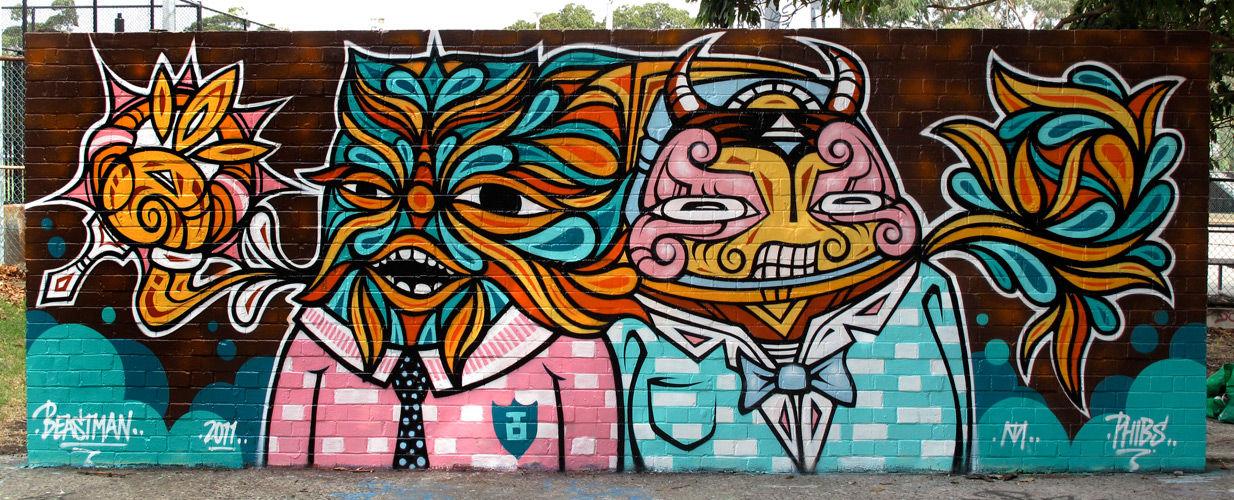 Œuvre Par Beastman, Phibs à Sydney (Personnages)