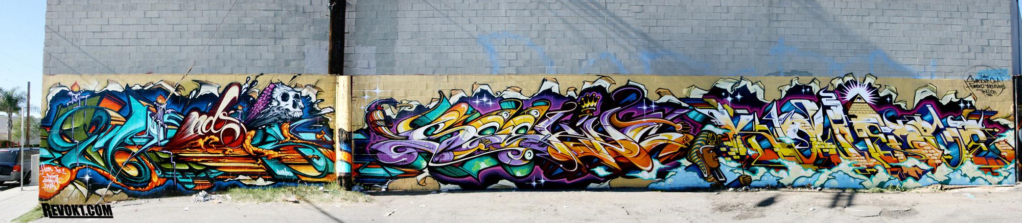 Artwork By Rime, Revok, Pose in Los Angeles