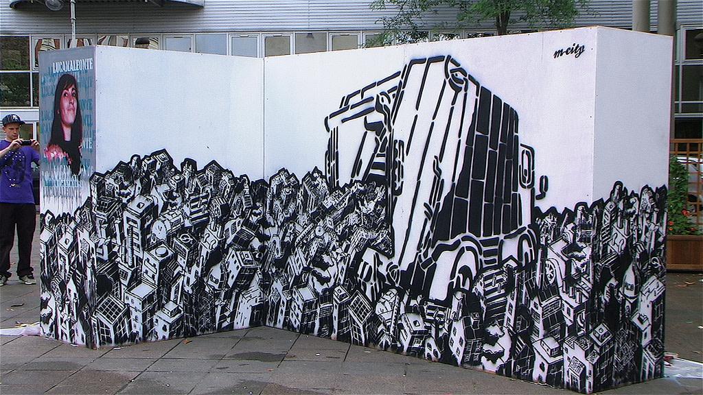 Œuvre Par M-City à Paris