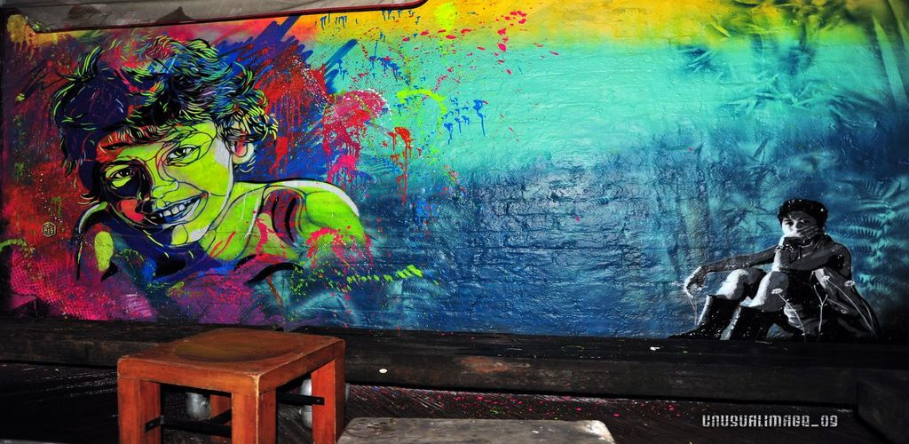 Artwork By C215, Indigo in London