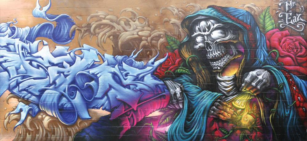 Œuvre Par Eaz à New York (Personnages, Graffiti)