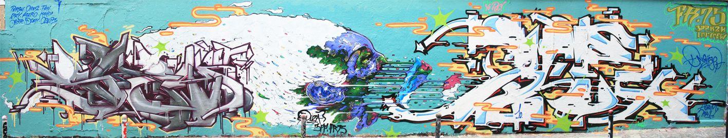 Œuvre Par Duza, TAER à Paris (Futuriste, Graffiti)