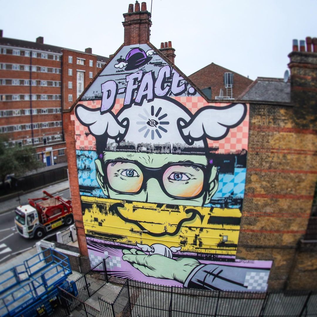 Artwork By D*face in London