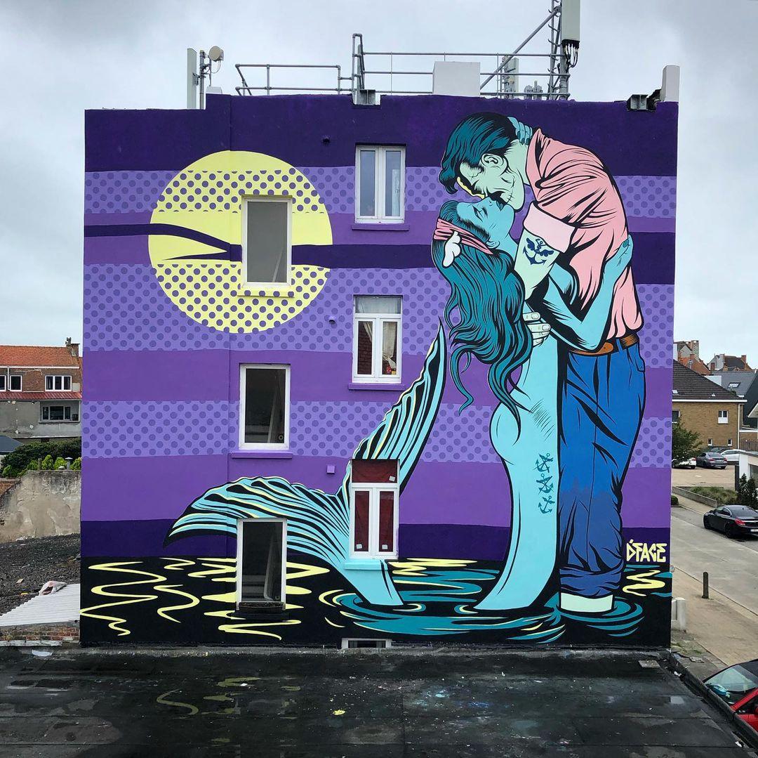 Œuvre Par D*face à Ostende