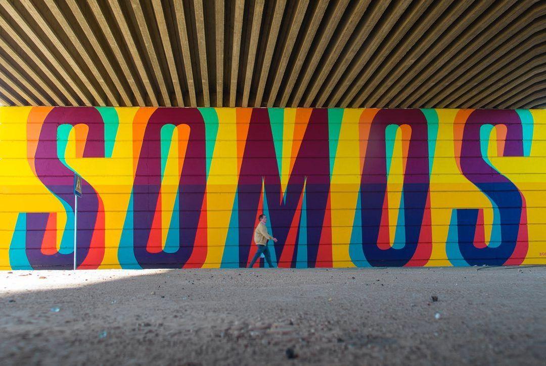 Œuvre Par Boa Mistura à Mérida (Letter art)