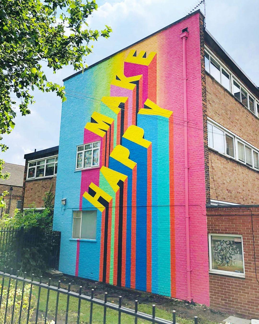 Œuvre Par Morag Myerscough à Londres