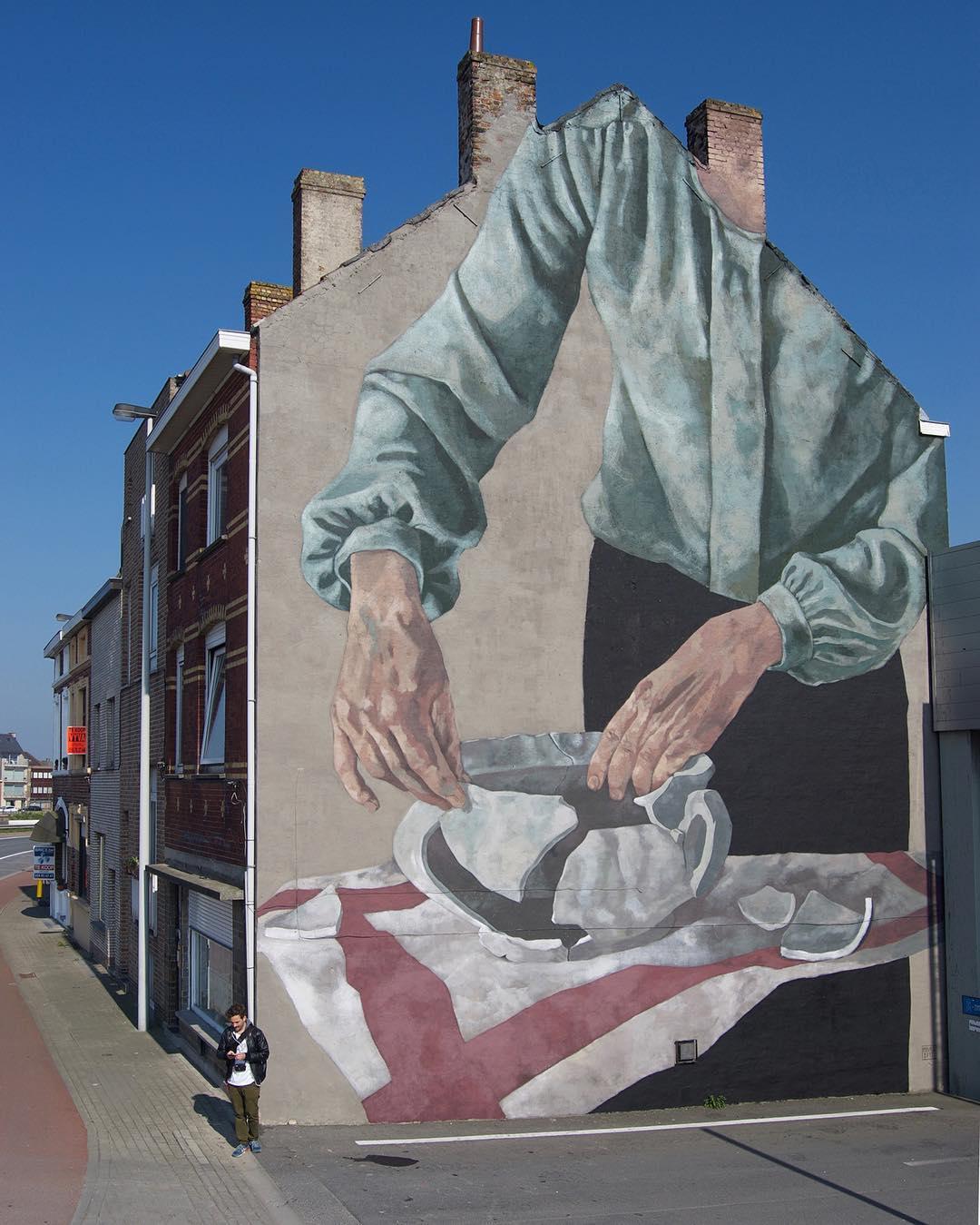 Œuvre Par Hyuro à Ostende