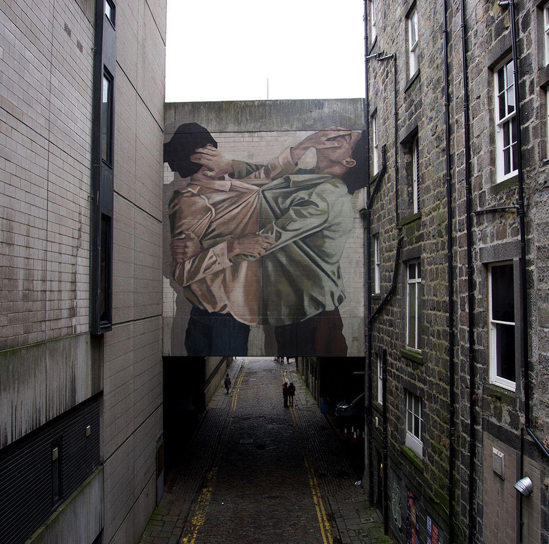 Œuvre Par Hyuro à Aberdeen (Figuratif, Société)