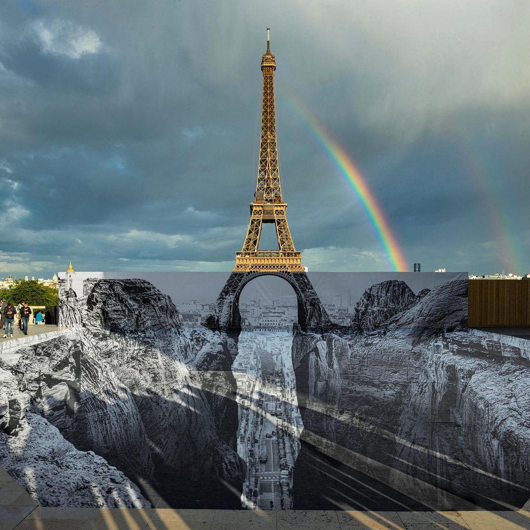 Artwork By JR in Paris (Illusion, Street Art)