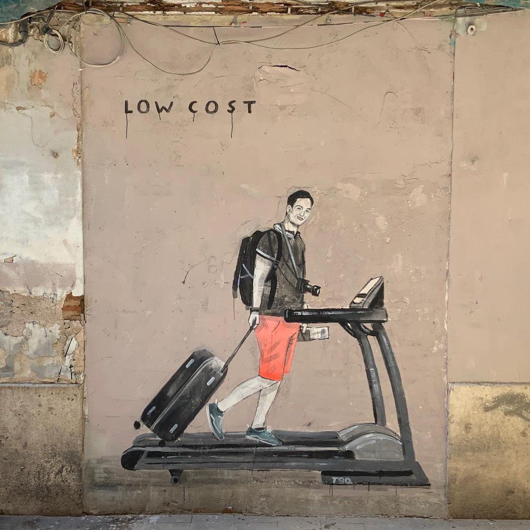 Œuvre Par Escif à Valence (Graffiti, Humour)