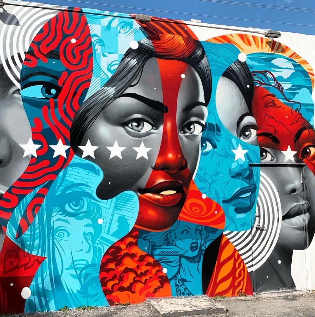 Artwork By Tristan Eaton in Miami (Spray, Murals)