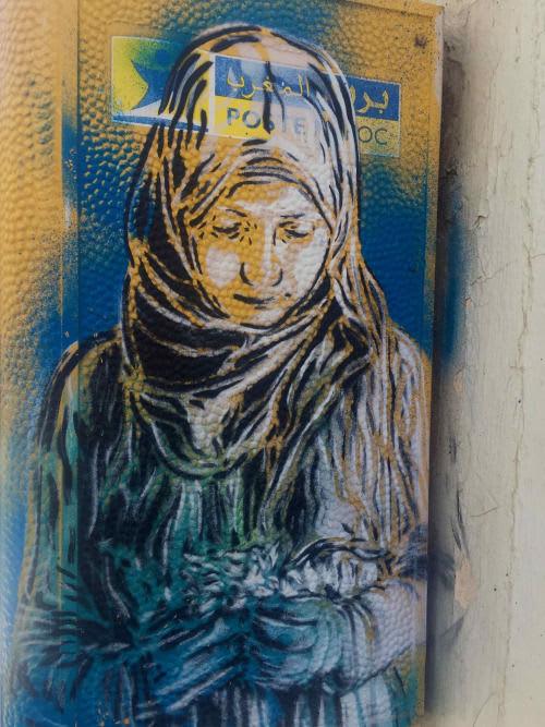 Œuvre Par C215 à Rabat