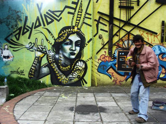 Œuvre Par Guache à Bogota
